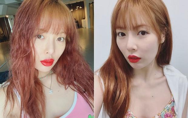 Hình như Hyuna vừa tiêm filler môi: môi sưng tều nên đánh son đỏ chẳng còn đẹp và sang như trước, chỉ thấy giật mình - Ảnh 5.