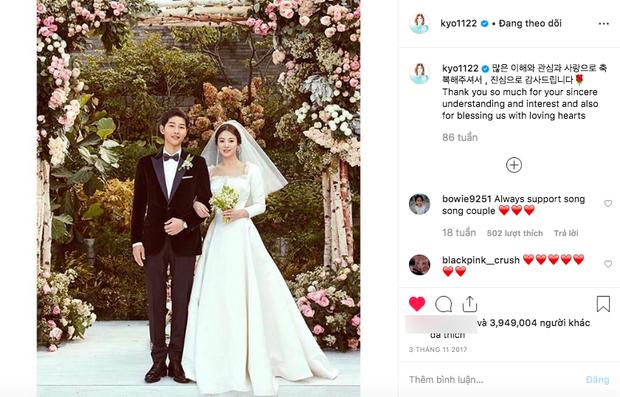 Đau lòng nhất hôm nay: 2 ngày sau khi đệ đơn ly hôn, Song Hye Kyo vẫn giữ bức ảnh cưới 4 triệu like từ 2 năm trước - Ảnh 1.