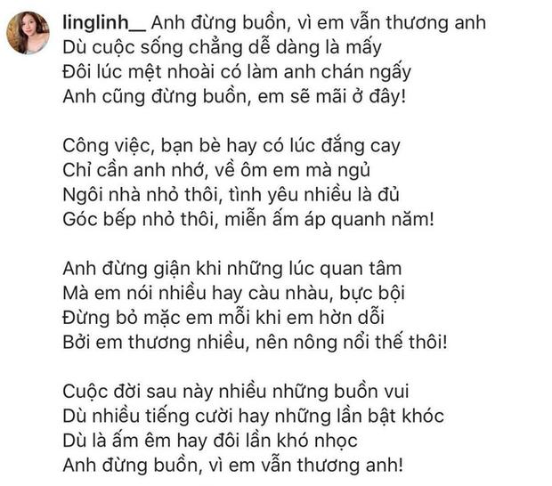 Mặc các sao lớn đổ vỡ, Khánh Linh viết caption bằng thơ - Bùi Tiến Dũng đáp lại ngọt ngào thế này - Ảnh 1.