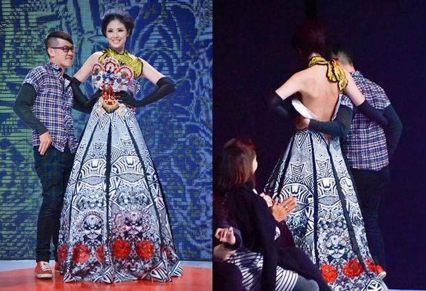Diện váy công chúa nhưng không may bị đứt khóa, Hòa Minzy đã có cách ứng biến tinh tế khiến ít ai nhận ra - Ảnh 8.