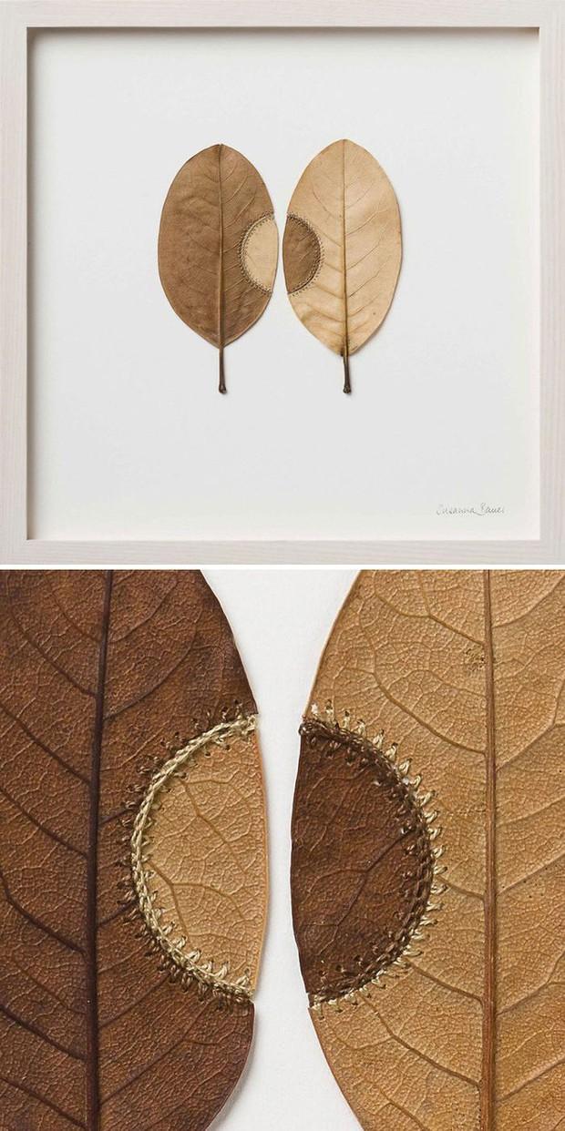 23 tác phẩm độc đáo cho thấy lá cây cũng có thể trở thành tuyệt tác nghệ thuật - Ảnh 2.