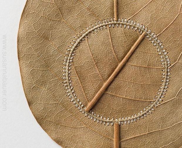 23 tác phẩm độc đáo cho thấy lá cây cũng có thể trở thành tuyệt tác nghệ thuật - Ảnh 3.