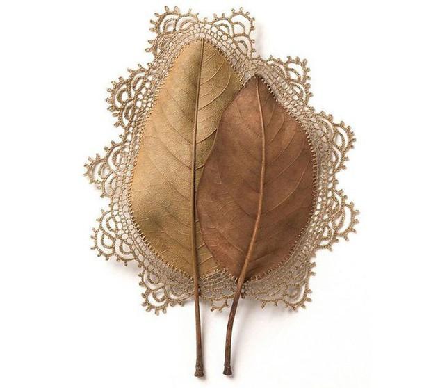 23 tác phẩm độc đáo cho thấy lá cây cũng có thể trở thành tuyệt tác nghệ thuật - Ảnh 4.