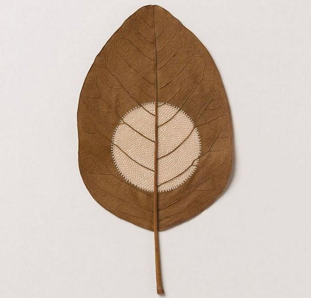 23 tác phẩm độc đáo cho thấy lá cây cũng có thể trở thành tuyệt tác nghệ thuật - Ảnh 18.