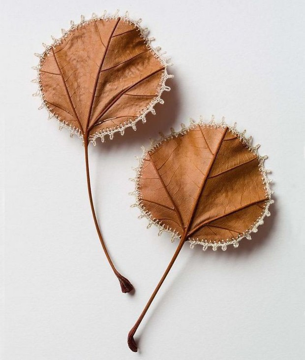 23 tác phẩm độc đáo cho thấy lá cây cũng có thể trở thành tuyệt tác nghệ thuật - Ảnh 19.