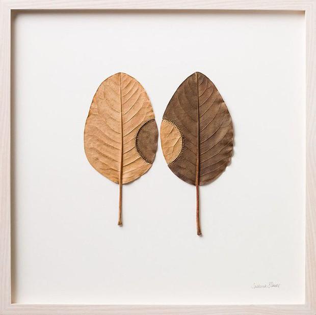 23 tác phẩm độc đáo cho thấy lá cây cũng có thể trở thành tuyệt tác nghệ thuật - Ảnh 21.