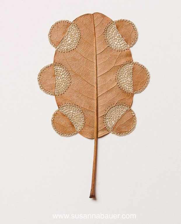23 tác phẩm độc đáo cho thấy lá cây cũng có thể trở thành tuyệt tác nghệ thuật - Ảnh 24.