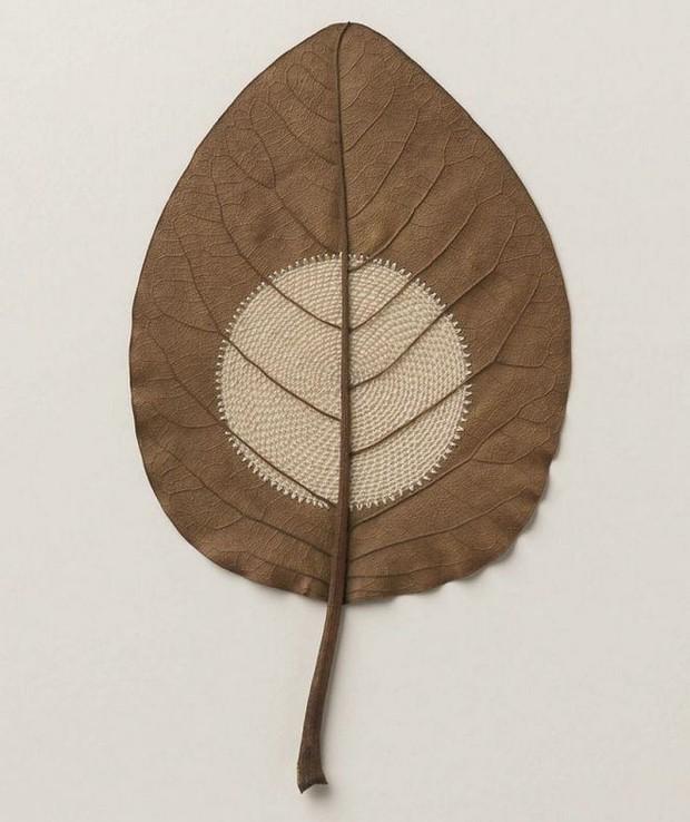 23 tác phẩm độc đáo cho thấy lá cây cũng có thể trở thành tuyệt tác nghệ thuật - Ảnh 6.