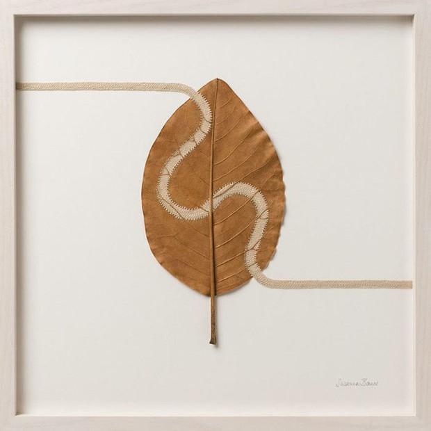 23 tác phẩm độc đáo cho thấy lá cây cũng có thể trở thành tuyệt tác nghệ thuật - Ảnh 7.