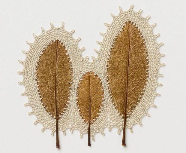 23 tác phẩm độc đáo cho thấy lá cây cũng có thể trở thành tuyệt tác nghệ thuật - Ảnh 9.