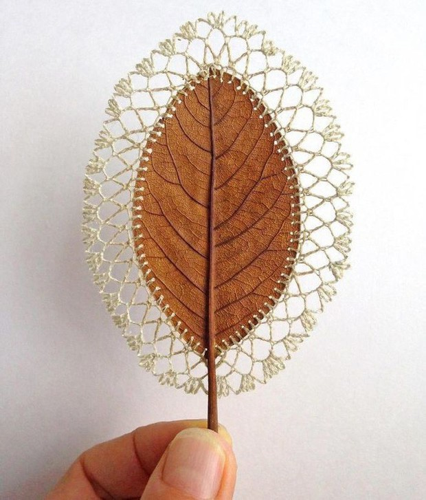 23 tác phẩm độc đáo cho thấy lá cây cũng có thể trở thành tuyệt tác nghệ thuật - Ảnh 10.