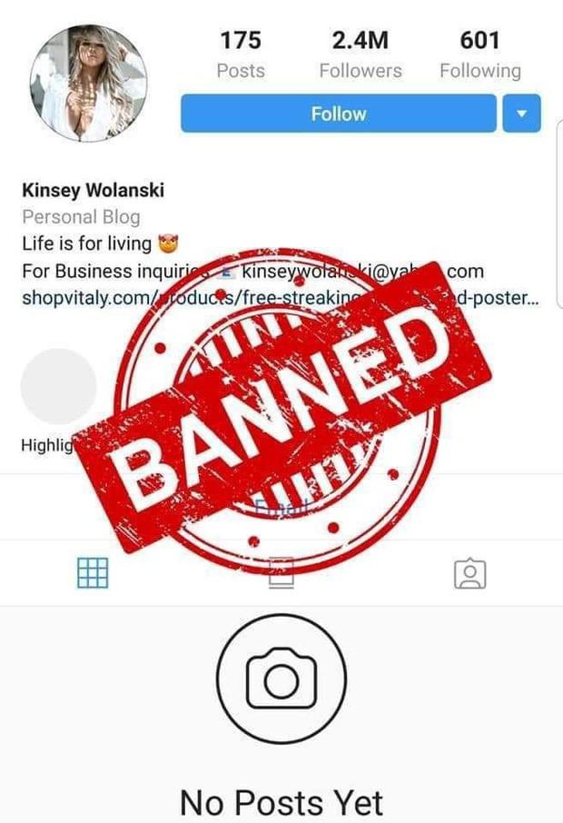 Người mẫu phim khiêu dâm làm loạn chung kết cúp C1 đã bị Instagram trảm không thương tiếc - Ảnh 3.