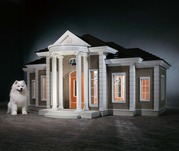 Nhiều tiền quá không biết để làm gì, đã có công ty Anh giúp bạn xây villa bạc tỷ chỉ dành riêng cho cún cưng đây - Ảnh 3.