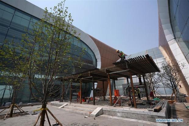 """Ná thở với sân bay """"sao biển"""" lớn nhất thế giới ở Trung Quốc, rộng bằng... 63 quảng trường Thiên An Môn, từ đầu nọ sang đầu kia dài cả cây số - Ảnh 14."""