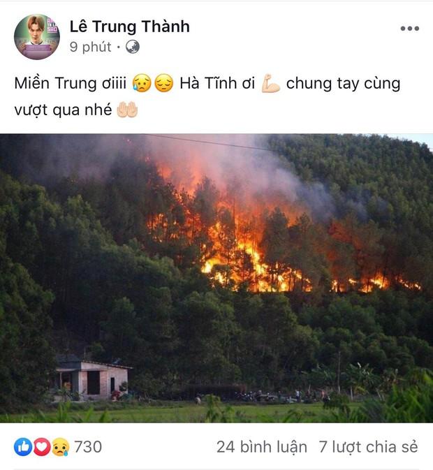 Đỗ Mỹ Linh, Hoà Minzy cùng sao Vbiz hướng về vụ cháy rừng kinh hoàng ở Hà Tĩnh - Ảnh 3.