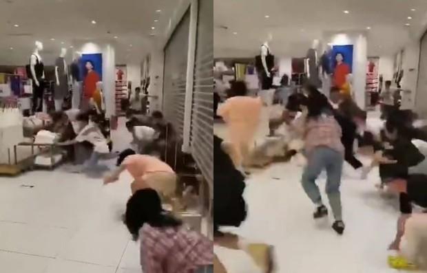 Đoạn clip hỗn chiến tại cửa hàng Uniqlo gây sốt MXH Trung Quốc, tưởng là bạo loạn nhưng hóa ra chỉ vì lý do này - Ảnh 1.