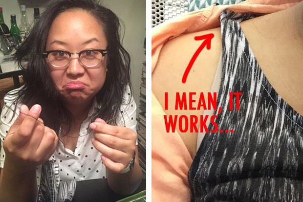 Mùa hè ngại nhất là bị lộ dây áo lót kém duyên, cô nàng này đã thử 6 giải pháp phổ biến để bạn tham khảo - Ảnh 12.