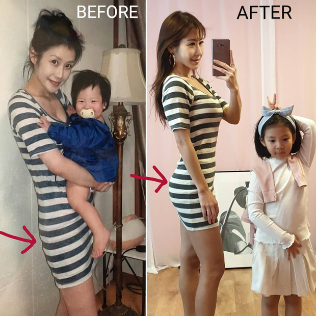 Mẹ bỉm sữa 40 tuổi xứ Hàn gây choáng vì màn Before - After khiến gái đôi mươi cũng phải hâm mộ - Ảnh 4.