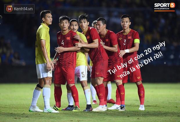 Loạt ảnh chế màn tranh chấp căng thẳng giữa các cầu thủ Việt Nam và Thái Lan: Tưởng không đau mà đau không tưởng - Ảnh 1.