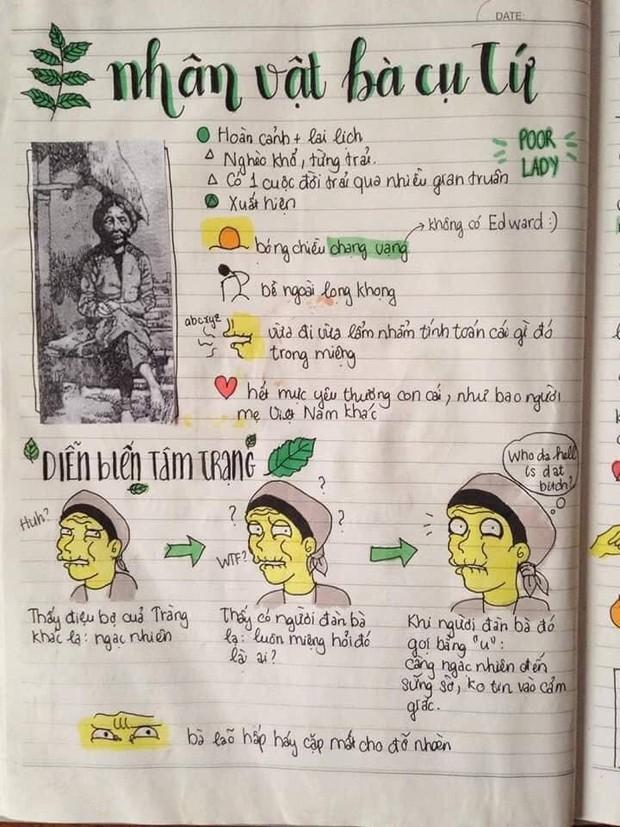 Biến vở học Văn thành tranh vẽ sống động cho dễ thuộc, nữ sinh xinh đẹp hứng bão like từ cộng đồng mạng - Ảnh 8.