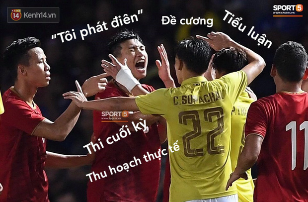 Loạt ảnh chế màn tranh chấp căng thẳng giữa các cầu thủ Việt Nam và Thái Lan: Tưởng không đau mà đau không tưởng - Ảnh 7.