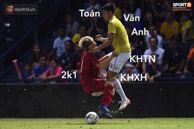 Loạt ảnh chế màn tranh chấp căng thẳng giữa các cầu thủ Việt Nam và Thái Lan: Tưởng không đau mà đau không tưởng - Ảnh 9.