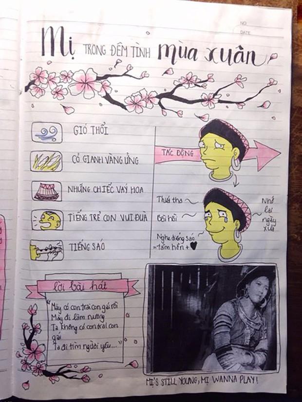 Biến vở học Văn thành tranh vẽ sống động cho dễ thuộc, nữ sinh xinh đẹp hứng bão like từ cộng đồng mạng - Ảnh 9.