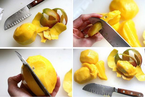 Không cần dao hay dụng cụ nạo, chỉ cần 1 chiếc tăm cũng có thể lột vỏ xoài dễ như bóc vỏ chuối - Ảnh 1.