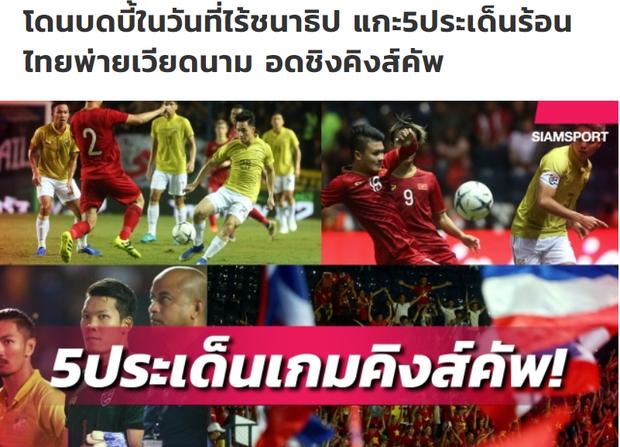 Báo hàng đầu Thái Lan cay đắng thừa nhận: Bóng đá chúng ta kém hơn Việt Nam thật rồi - Ảnh 1.