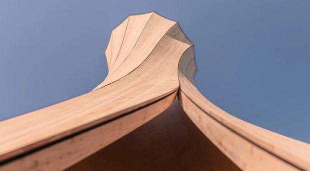 Độc đáo tòa tháp hình xoắn ốc được làm từ gỗ đầu tiên trên thế giới, không cong vênh, bền chắc không kém bê tông - Ảnh 5.