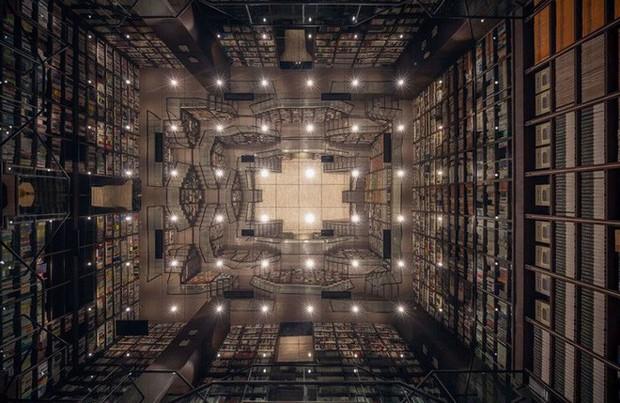 Cách bài trí gây ảo giác của nhà sách Trung Quốc khiến du khách lú lẫn như lạc vào mê cung - Ảnh 11.