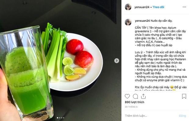 Học lỏm 2 công thức mix nước ép cần tây từ bạn gái Lâm Tây - Yến Xuân, nguyên liệu có đủ trong bếp nhà bạn - Ảnh 3.