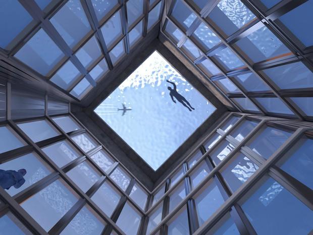 Bể bơi vô cực 360 độ đầu tiên trên thế giới sắp được xây dựng và ra mắt tại London - Ảnh 2.