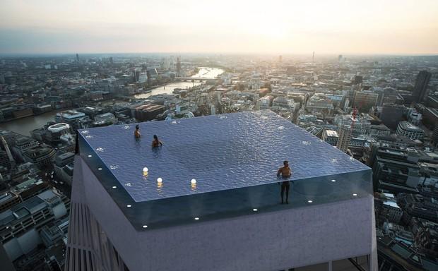 Bể bơi vô cực 360 độ đầu tiên trên thế giới sắp được xây dựng và ra mắt tại London - Ảnh 1.