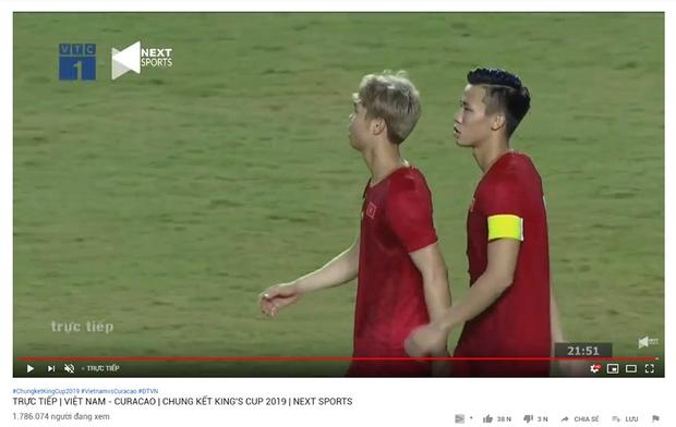 Chung kết King's Cup 2019 Việt Nam - Curacao bất ngờ đạt lượng người xem cao kỷ lục trên YouTube - Ảnh 1.