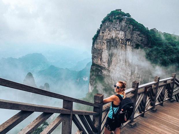 Thiên Môn Sơn - Đường lên cổng trời ở Trung Quốc khiến hội yếu tim phải khóc thét với 99 khúc cua dựng đứng - Ảnh 11.