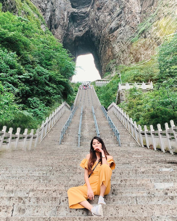 Thiên Môn Sơn - Đường lên cổng trời ở Trung Quốc khiến hội yếu tim phải khóc thét với 99 khúc cua dựng đứng - Ảnh 7.