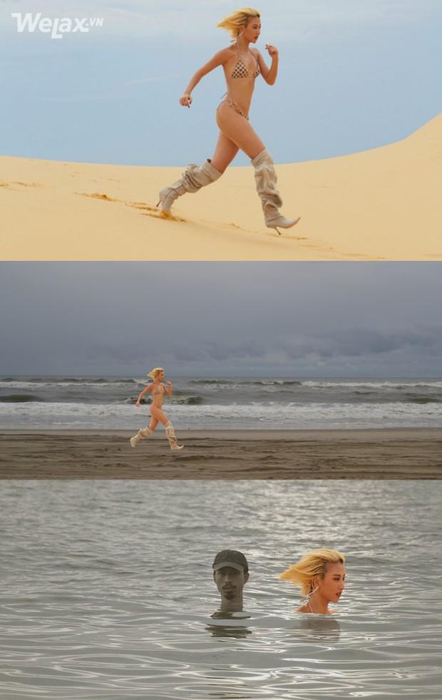 Chả mấy khi Quỳnh Anh Shyn mặc bikini chạy một mình giữa mênh mông cát, ngại gì tặng ngay hotgirl chùm ảnh chế để đời - Ảnh 5.