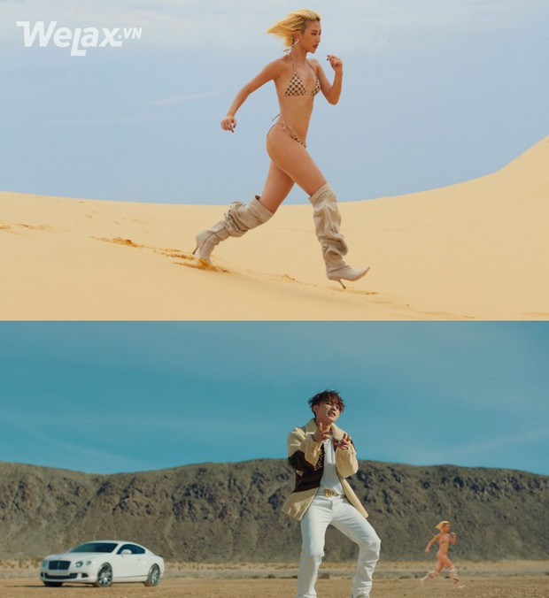 Chả mấy khi Quỳnh Anh Shyn mặc bikini chạy một mình giữa mênh mông cát, ngại gì tặng ngay hotgirl chùm ảnh chế để đời - Ảnh 4.