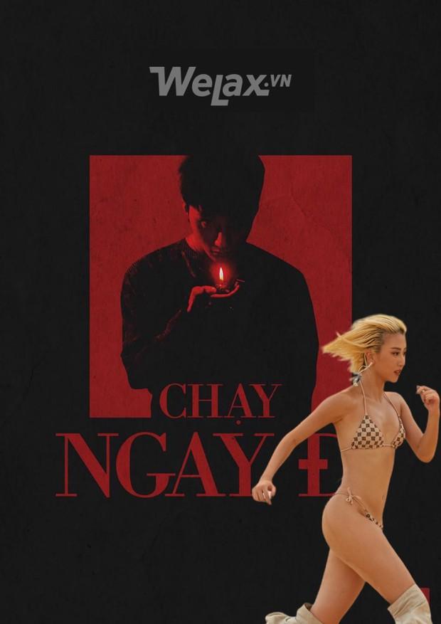 Chả mấy khi Quỳnh Anh Shyn mặc bikini chạy một mình giữa mênh mông cát, ngại gì tặng ngay hotgirl chùm ảnh chế để đời - Ảnh 1.