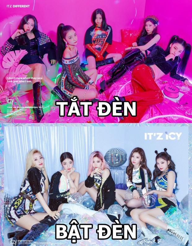 Cách JYP cho ITZY chụp ảnh come back: Vẫn concept quen, ngồi yên theo thứ tự cũ, đổi trang phục thay đèn màu khác là xong - Ảnh 3.