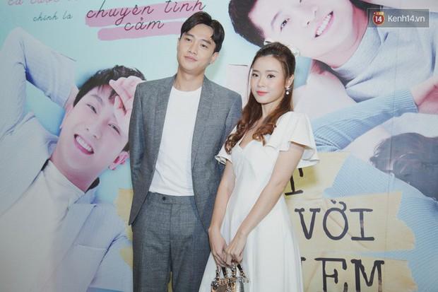 Quốc Trường xuất hiện xơ xác, e ấp bên tình cũ Harry Lu đi ra mắt phim Thật Tuyệt Vời Khi Ở Bên Em - Ảnh 1.