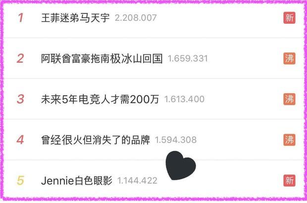 Chỉ có thể là Jennie: kẻ mắt sương sương cũng lọt top 5 trending trên Weibo - Ảnh 3.
