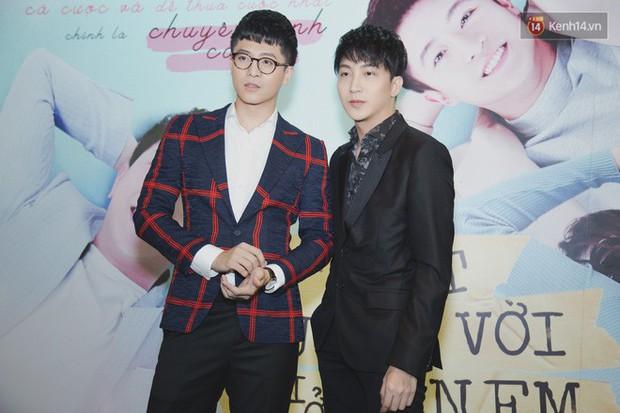 Quốc Trường xuất hiện xơ xác, e ấp bên tình cũ Harry Lu đi ra mắt phim Thật Tuyệt Vời Khi Ở Bên Em - Ảnh 4.