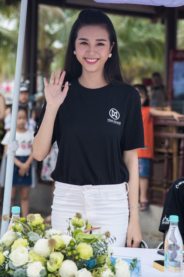 Bình An - Phương Nga diện giày đôi, cùng hội Hoa hậu tiếp lửa cho thí sinh Miss World Việt chinh chiến Người đẹp thể thao - Ảnh 3.