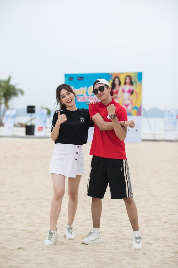 Bình An - Phương Nga diện giày đôi, cùng hội Hoa hậu tiếp lửa cho thí sinh Miss World Việt chinh chiến Người đẹp thể thao - Ảnh 5.