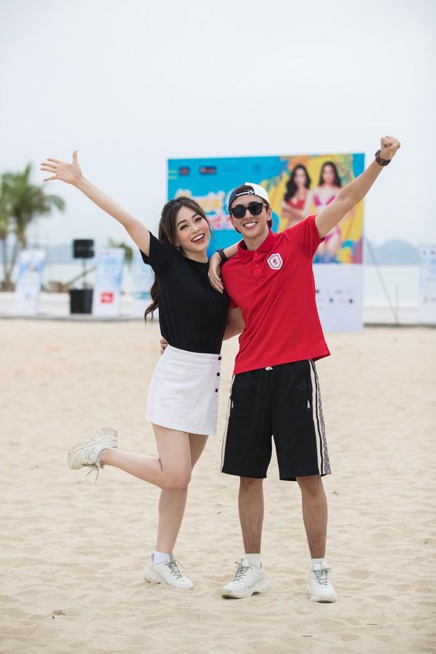 Bình An - Phương Nga diện giày đôi, cùng hội Hoa hậu tiếp lửa cho thí sinh Miss World Việt chinh chiến Người đẹp thể thao - Ảnh 4.