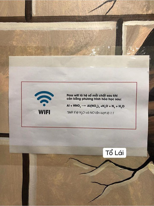 Yêu cầu cân bằng phương trình hoá học mới có pass wifi, dân mạng đồng loạt than thở: Bây giờ mới thấy tầm quan trọng của môn Hoá! - Ảnh 1.