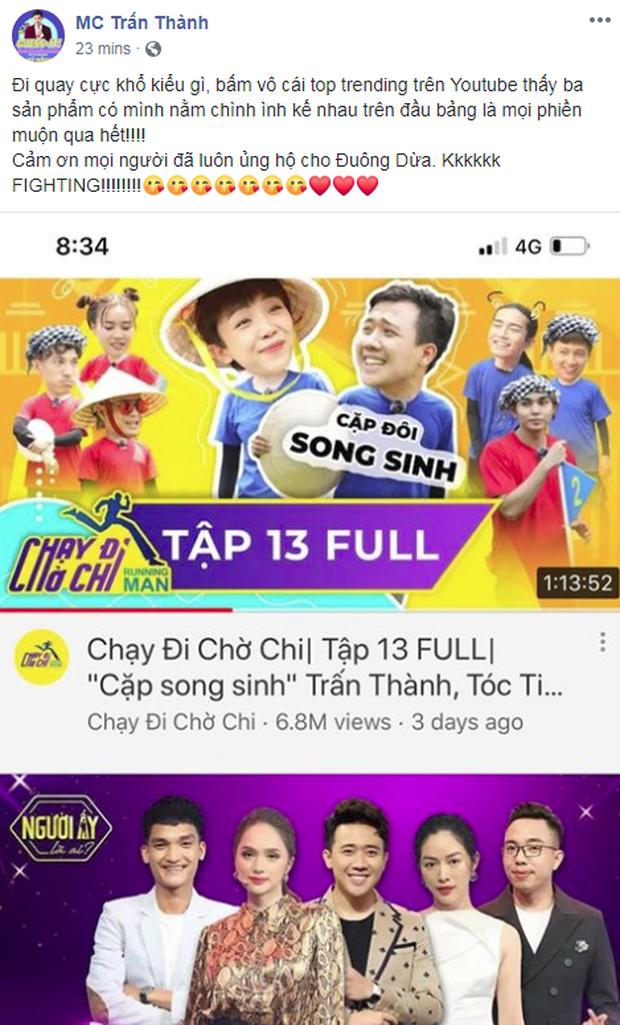 Ai hot bằng Trấn Thành: Tham gia 3 show, lọt top trending cả 3 - Ảnh 5.