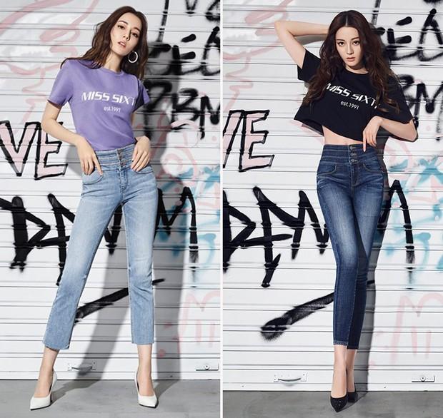 """Chẳng cần lồng lộn, Địch Lệ Nhiệt Ba chỉ diện áo phông quần jeans cũng đủ """"gây bão"""" với đôi chân hoàn mỹ - Ảnh 2."""
